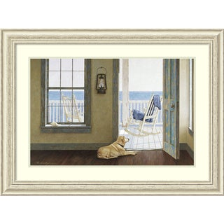 Zhen-Huan Lu 'Looking Over the Sea' Framed Art Print 35 x 26-inch