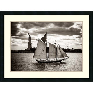 John Brooknam 'The Clipper & the Liberty' Framed Art Print 30 x 23-inch
