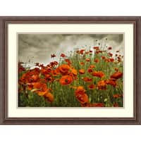 Framed Art Print 'Bobbi's Poppies' by David Lorenz Winston 27 x 21-inch