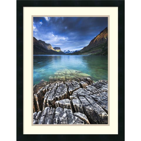Framed Art Print 'St. Mary Lake Glacier National Park' by Jason Savage 20 x 26-inch