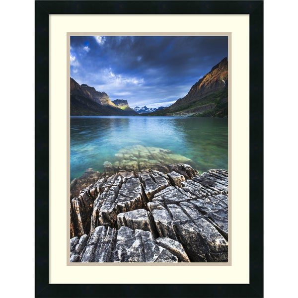 Framed Art Print 'St. Mary Lake Glacier National Park' by Jason Savage 20 x 26-inch. Opens flyout.