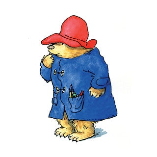 Marmont Hill 'Rainy Day Artist' Paddington Bear Painting Print on Canvas
