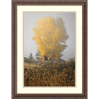 David Lorenz Winston 'Yellow Tree and Teasel' Framed Art Print 21 x 27-inch