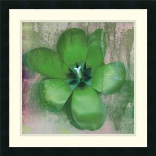 Erin Clark 'Tulip Fresco (green)' Framed Art Print 22 x 22-inch