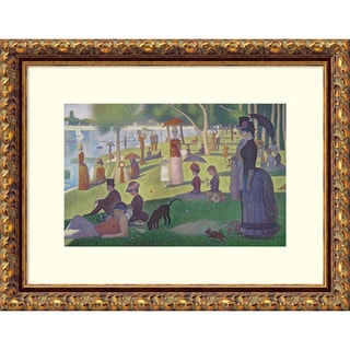 Georges Seurat 'Sunday Afternoon on the Island of La Grande Jatte, 1884-1886' Framed Art Print 15 x 12-inch
