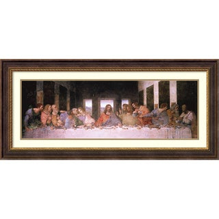 Framed Art Print 'The Last Supper (Detail)' by Leonardo da Vinci 45 x 21-inch
