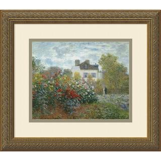 Claude Monet 'The Artist's Garden at Argenteuil, 1873' Framed Art Print 16 x 14-inch