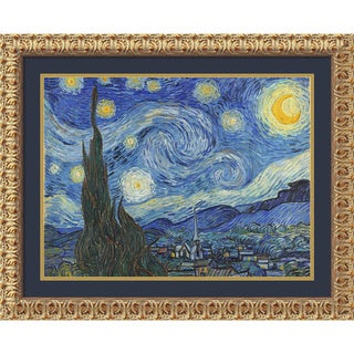 Vincent van Gogh 'The Starry Night, June 1889 (ii)' Framed Art Print 32 x 26-inch