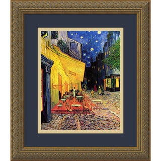 Framed Art Print 'Cafe Terrace At Night, 1888' by Vincent van Gogh 14 x 16-inch
