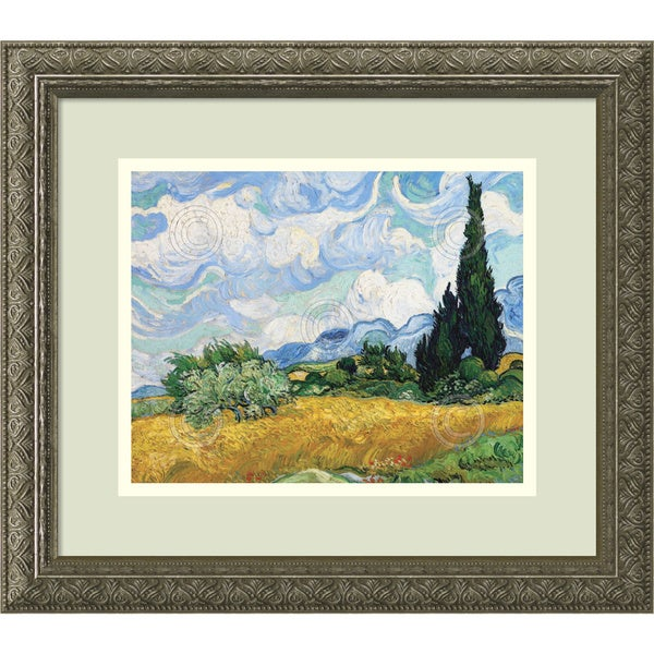 "Wheat Field with Cypresses  20/""x26/""  Canvas Art Print Vincent Van Gogh"