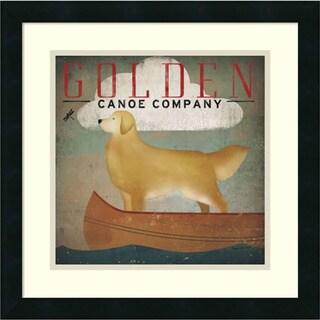 Ryan Fowler 'Golden Dog Canoe Co. (left face)' Framed Art Print 18 x 18-inch