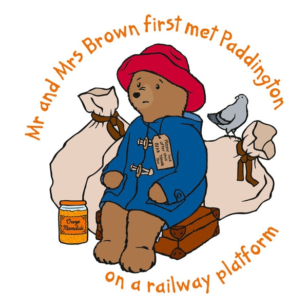 Marmont Hill 'Mr. and Mrs. Brown' Paddington Bear Painting Print on Canvas