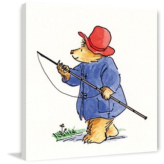 Marmont Hill 'Gone Fishing' Paddington Bear Painting Print on Canvas
