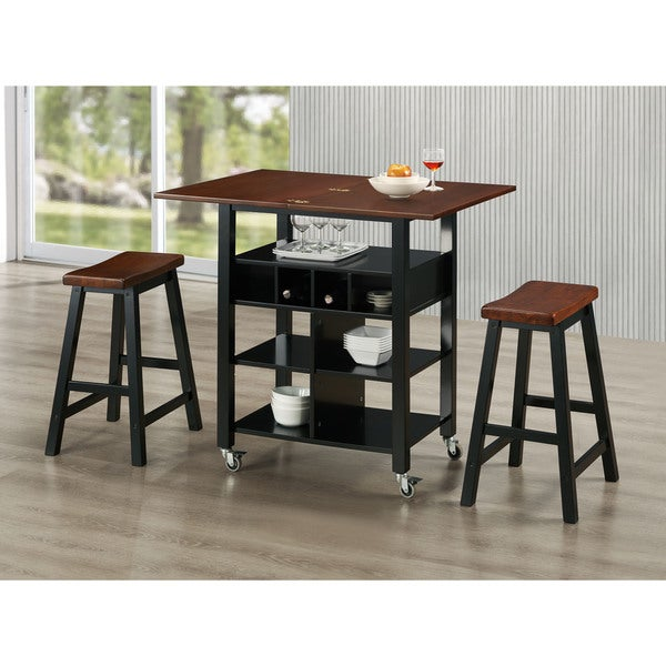 Copper Grove Denison 3-piece Kitchen Island Set with 2 Stools