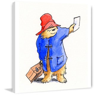 Marmont Hill 'Train Ticket' Paddington Bear Painting Print on Canvas