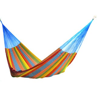 Multicolored Cotton/ Nylon Large Hammock