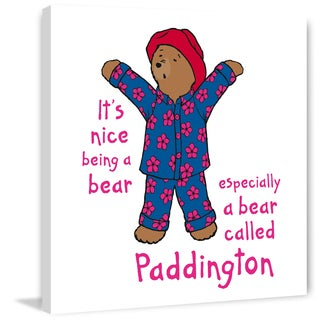 Marmont Hill 'It's Nice Being a Bear 2' Paddington Bear Painting Print on Canvas