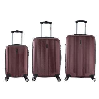InUSA San Francisco 3-piece Lightweight Hardside Spinner Luggage Set