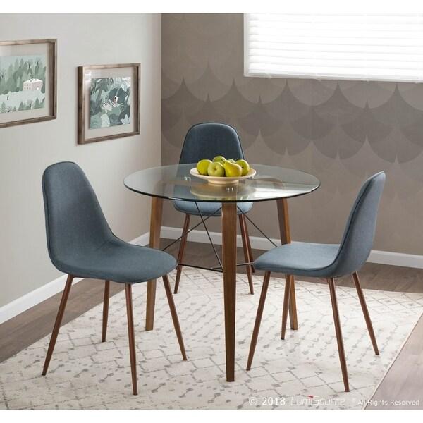 Trilogy Mid Century Modern Table in Walnut Wood