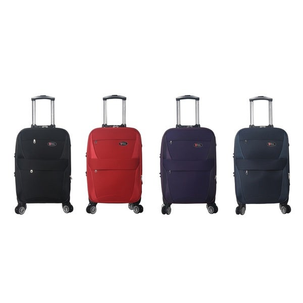 Brio Luggage 22 Inch Carry On Spinner Upright Suitcase