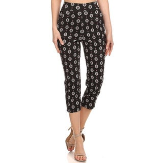 MOA Collection Women's Cropped Pattern Pants