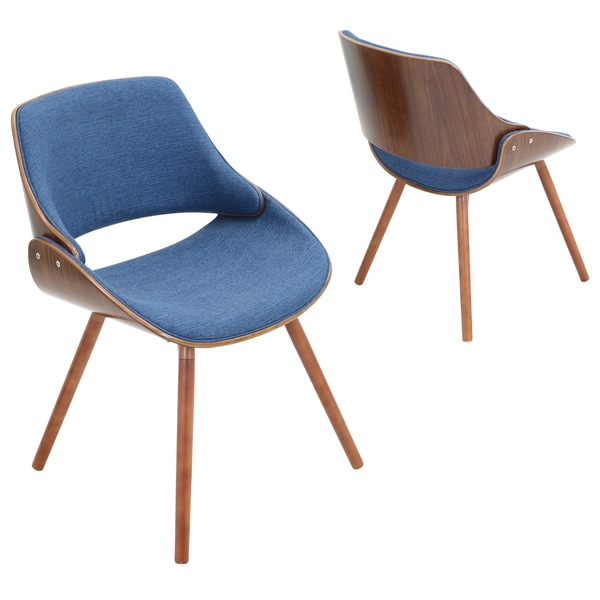 fabrizzi walnut mid century modern chair free shipping today