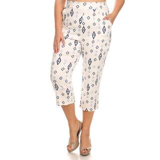 MOA Collection Plus Women's Pattern Pants|https://ak1.ostkcdn.com/images/products/11408889/P18373503.jpg?impolicy=medium