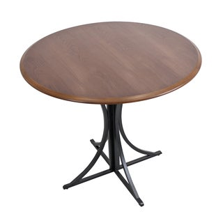 Boro Industrial Walnut Wood Dining Table