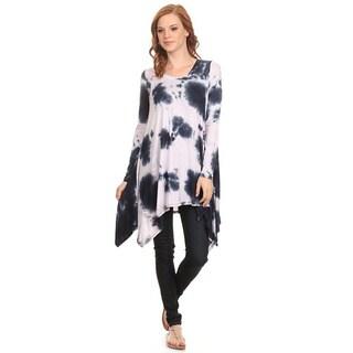 MOA Collection Women's Tie Dye Shirt Dress