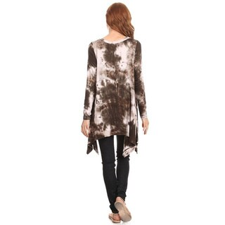 MOA Collection Women's Tie Dye Shirt Dress