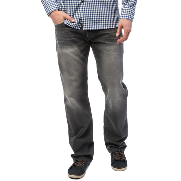 596bf95df11 Shop Levi's 504 Men's Grey Regular Straight Fit Jeans - Ships To ...