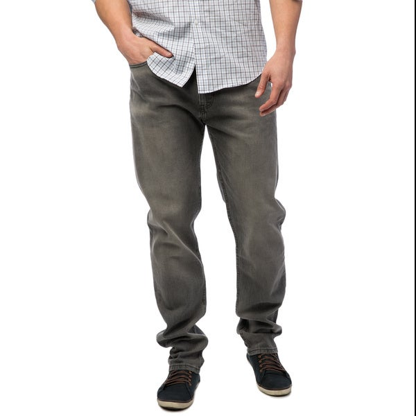 121fa6ec7a2 Shop Levi's 508 Men's Grey Regular Tapered Fit Jeans - Free Shipping ...