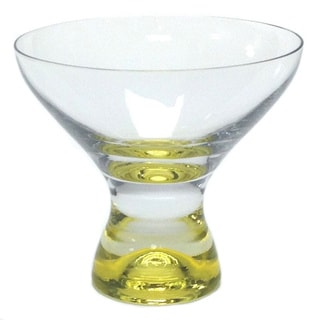 Red Vanilla Samba Martini Yellow Dessert Glass Set/6 11oz