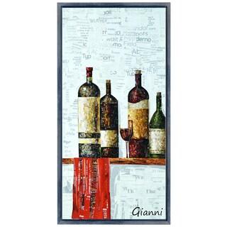 Vintage B' Original Handmade Paper Collage Signed by Gianni Framed Graphic Art