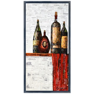 Vintage A' Original Handmade Paper Collage Signed by Gianni Framed Graphic Art