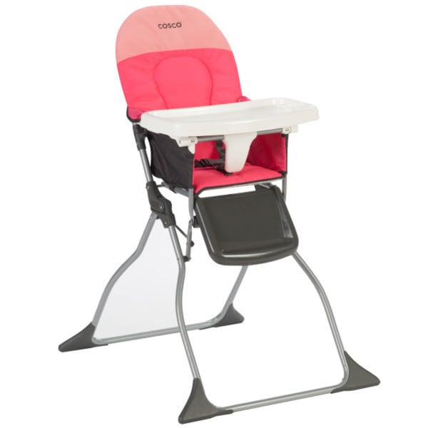 Shop Cosco Simple Fold In Colorblock Coral High Chair