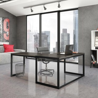 Amisco Slick Metal and Veneer Home Office Table