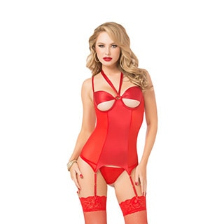 Women's Red Merrywidow 2-piece Set