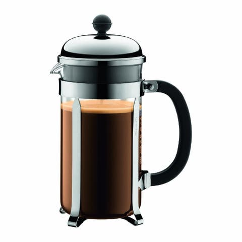 Bodum 1928-16US4 Chambord French Press Coffee Maker, 34 oz., Chrome