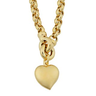 Fremada 18k Yellow Gold Italian Puffed Heart Rolo Necklace (17.5 inches)|https://ak1.ostkcdn.com/images/products/11409108/P18373667.jpg?impolicy=medium