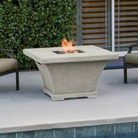 Real Flame Monaco 41.5 in. L x 41.5 in. W x 24.8 in. H Chat Height Fire Table Cream - N/A