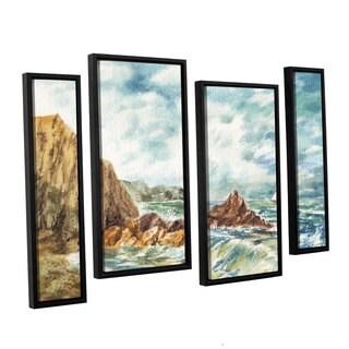 ArtWall Irina Sztukowsi's Vintage Storm 4-piece Floater Framed Canvas Staggered Set