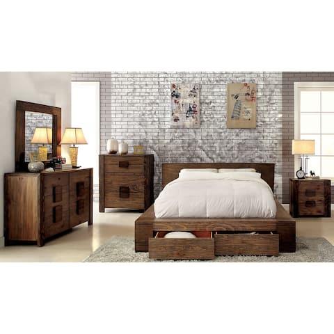 Carbon Loft Hugo Rustic 4-piece Natural Tone Storage Bedroom Set