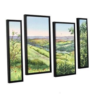 ArtWall Irina Sztukowsi's Inspiration Point 4-piece Floater Framed Canvas Staggered Set