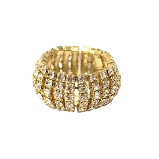 Isla Simone - 5 Row Dome Shape Ring with Crystals