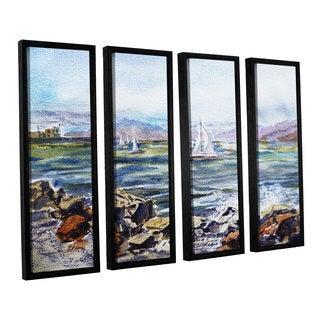 ArtWall Irina Sztukowsi's Richmond Shore 4-piece Floater Framed Canvas Set