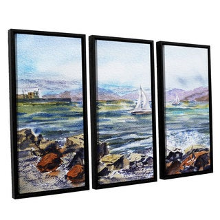 ArtWall Irina Sztukowsi's Richmond Shore 3-piece Floater Framed Canvas Set