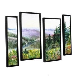 ArtWall Irina Sztukowsi's Redwood Creek 4-piece Floater Framed Canvas Staggered Set