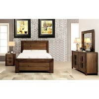 Furniture of America Kailee Rustic 4-piece Natural Tone Bedroom Set
