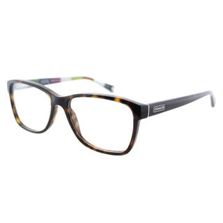 Coach Julayne Dark Tortoise on Colored Stripe 52mm Eyeglasses